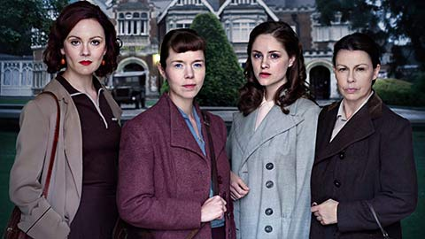 L-R: Rachael Stirling as Millie, Anna Maxwell Martin as Susan, Sophie Rundle as Lucy, Julie Graham as Jean